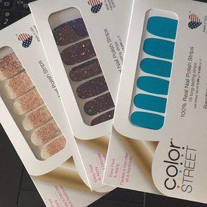 3 sets of nail strips